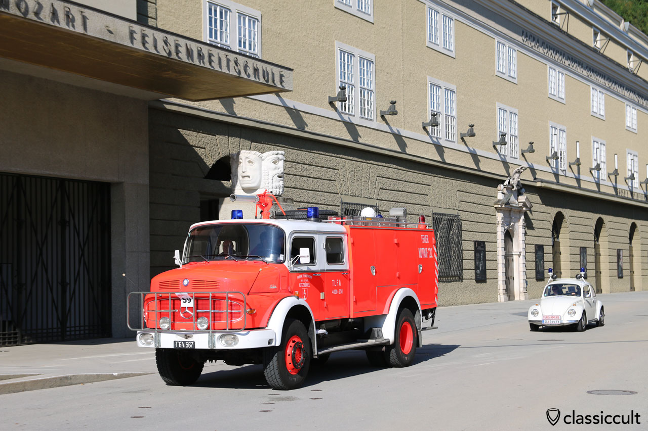 Mercedes Freiwillige Feuerwehr der Stadt Kitzbühel und VW Käfer