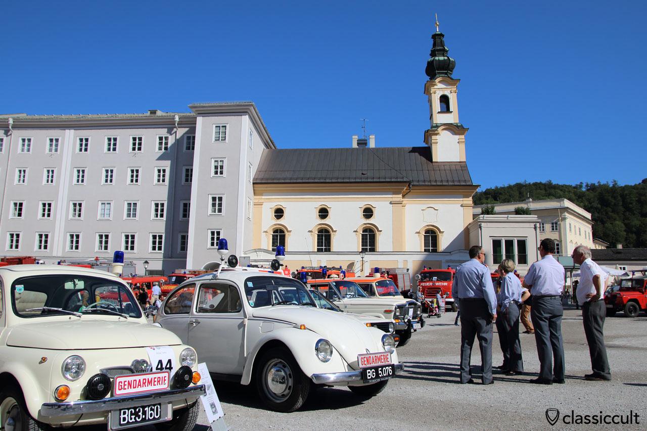 Gendarmerie VW Käfer und Gendarmerie Fiat 500