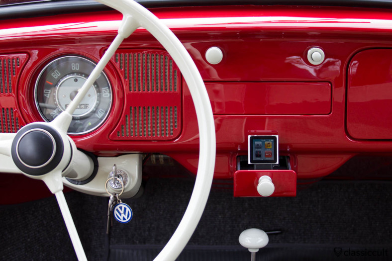 my 1965 1200 A VW Beetle Sound System with iPod