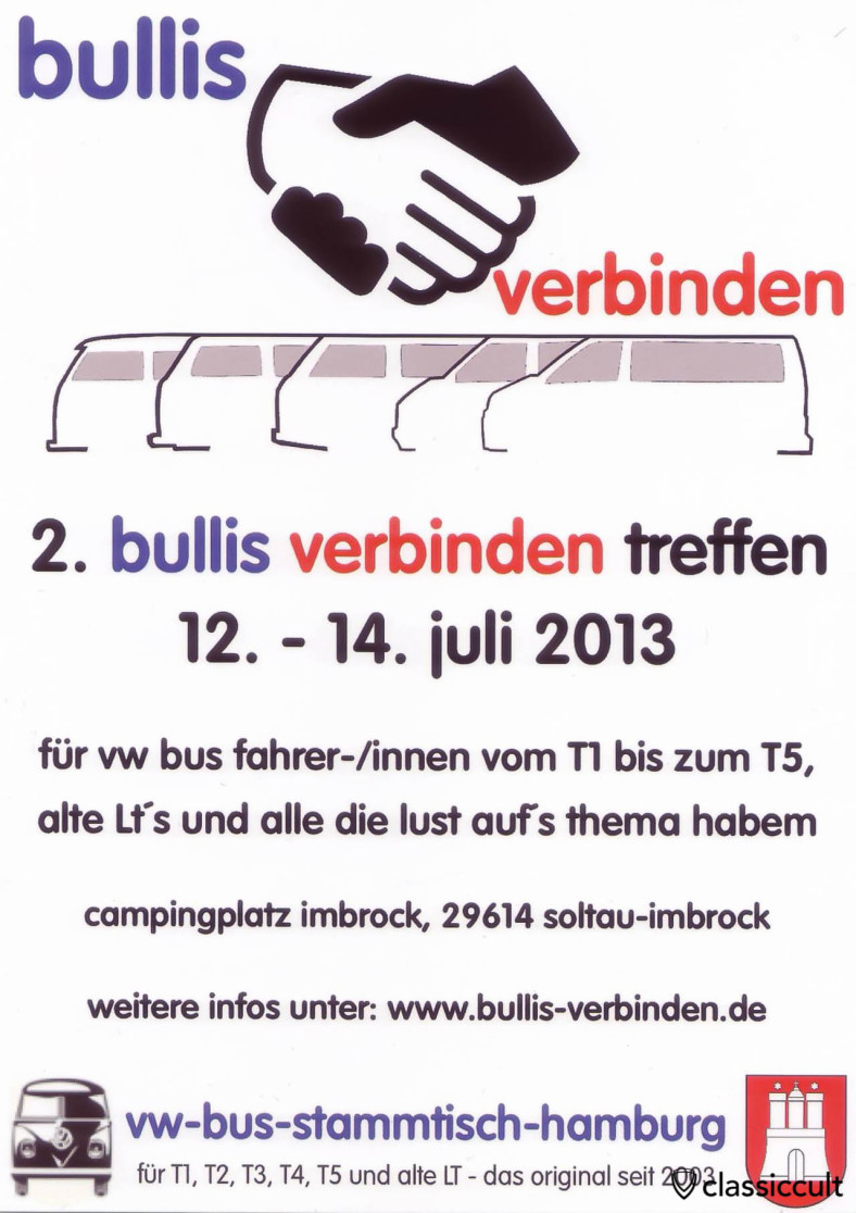 2. bullis verbinden treffen 12.07.2013 - 14.07.2013 Flyer