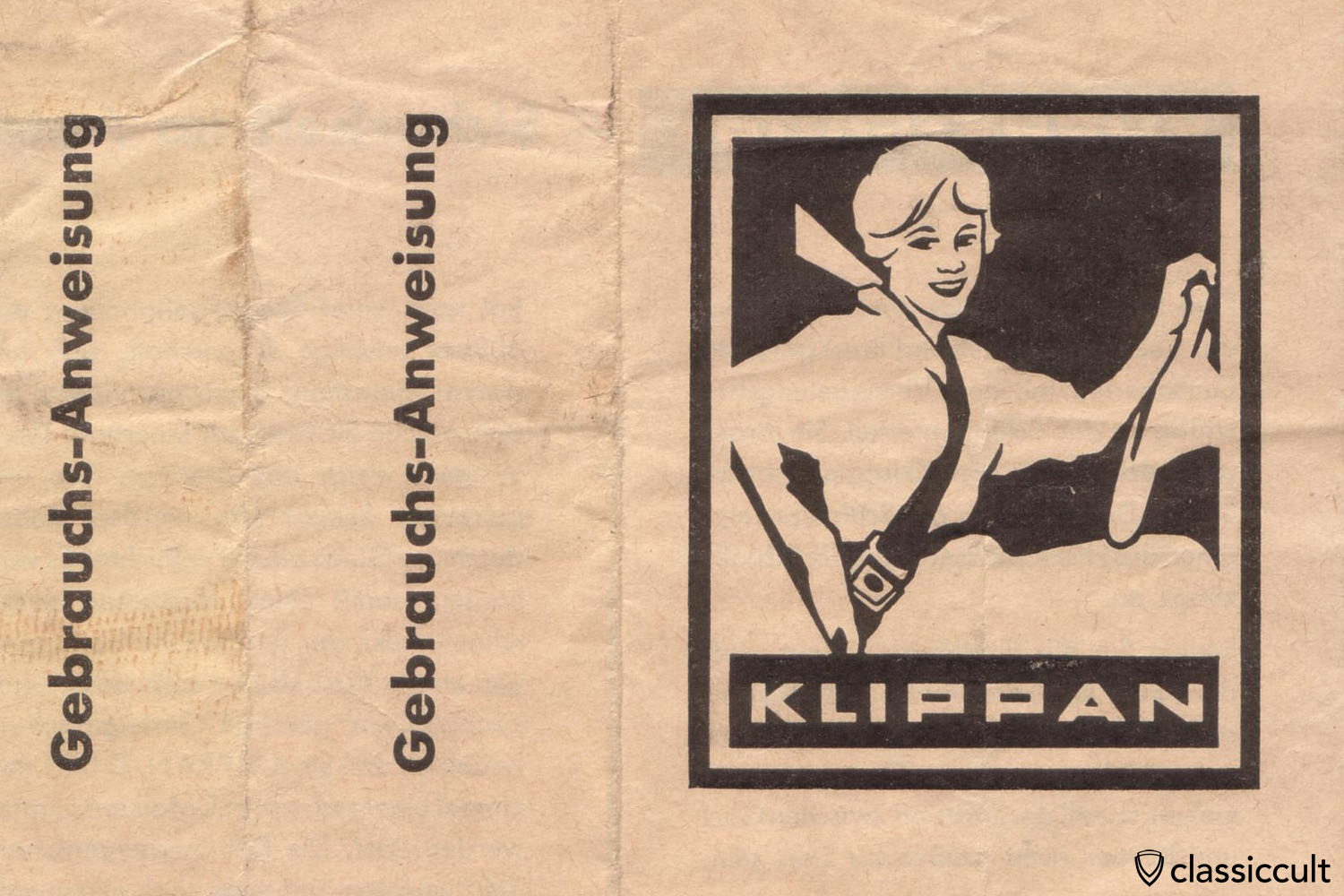 Klippan seat belt instruction 1960