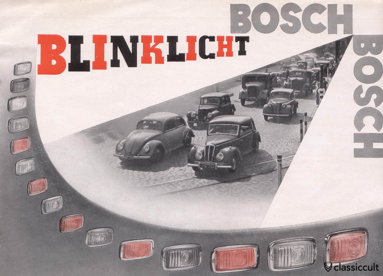 VW Split Bosch Turn Signal Brochure 1951