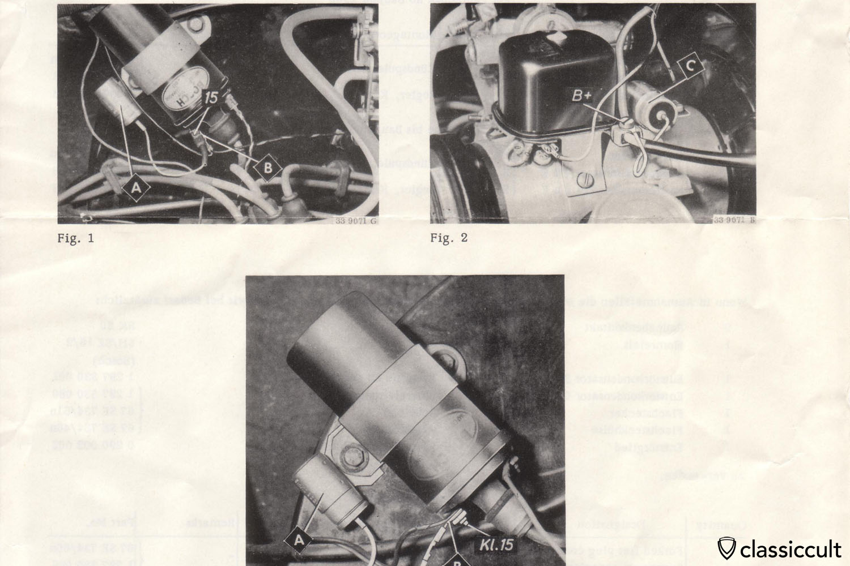 VW Bug, Karmann Ghia, Bus, Type3 Radio Suppression Instructions