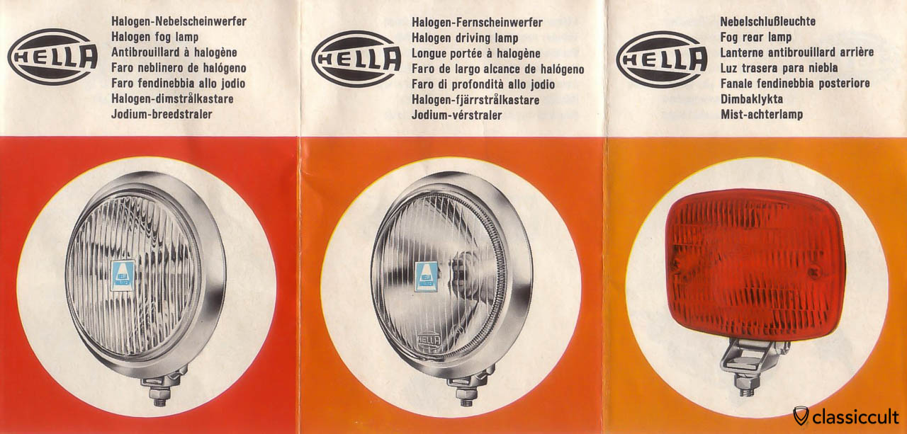 Hella Fog Lights advertisement 1969