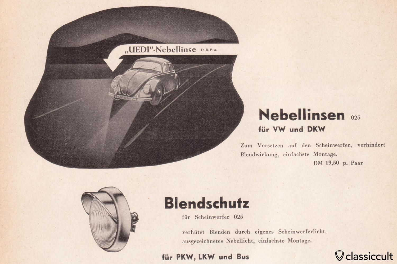 Kraftfahrzeug Zubehör 1954-55