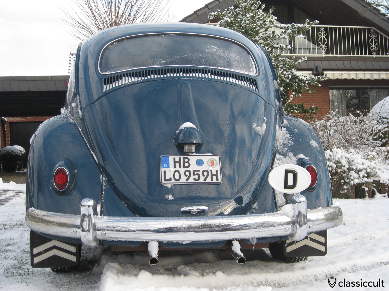 My Bug in snow Winter 2012