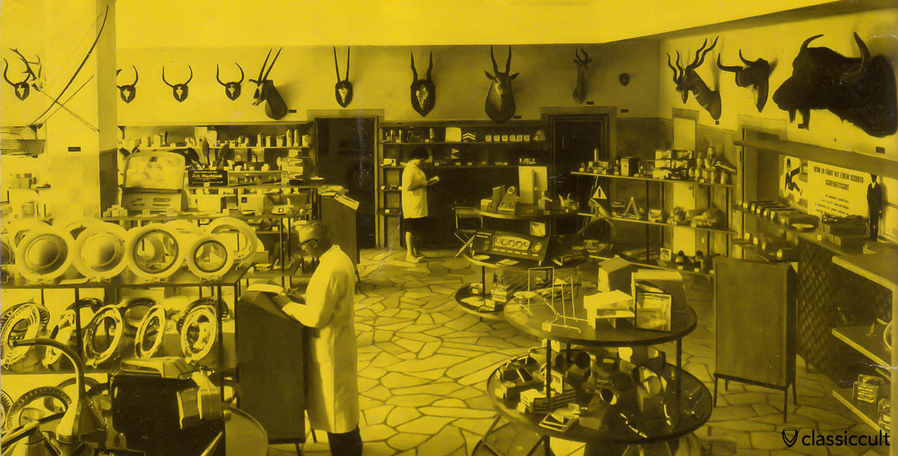 Vintage car accessories shop Germany 1960
