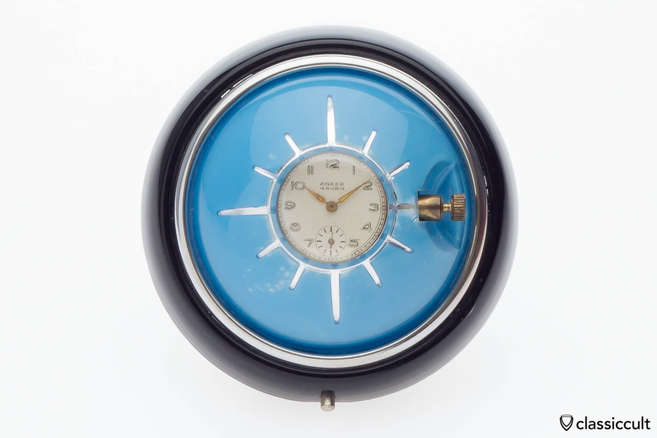 VW Oval bug steering wheel clock