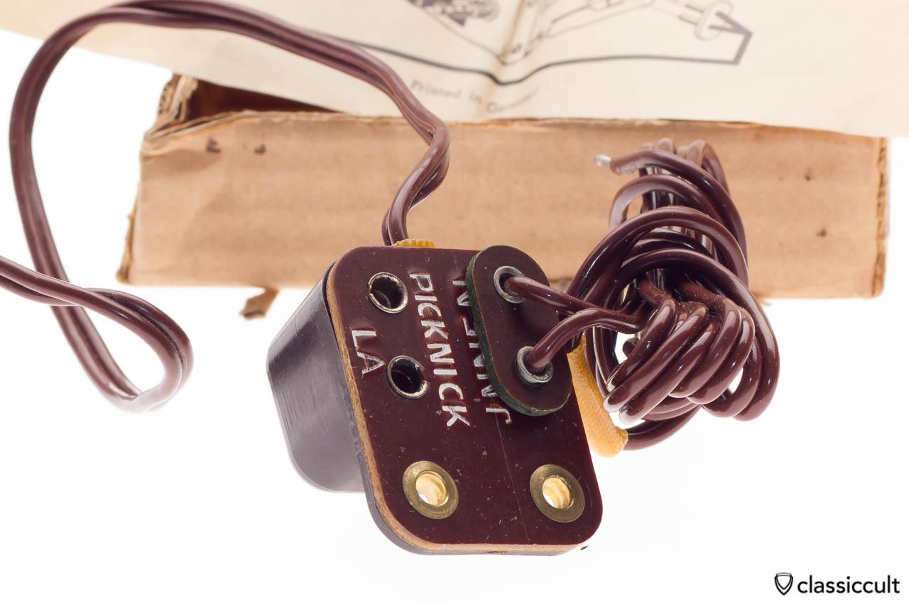 Blaupunkt radio picnic speaker plug box, new old stock NOS