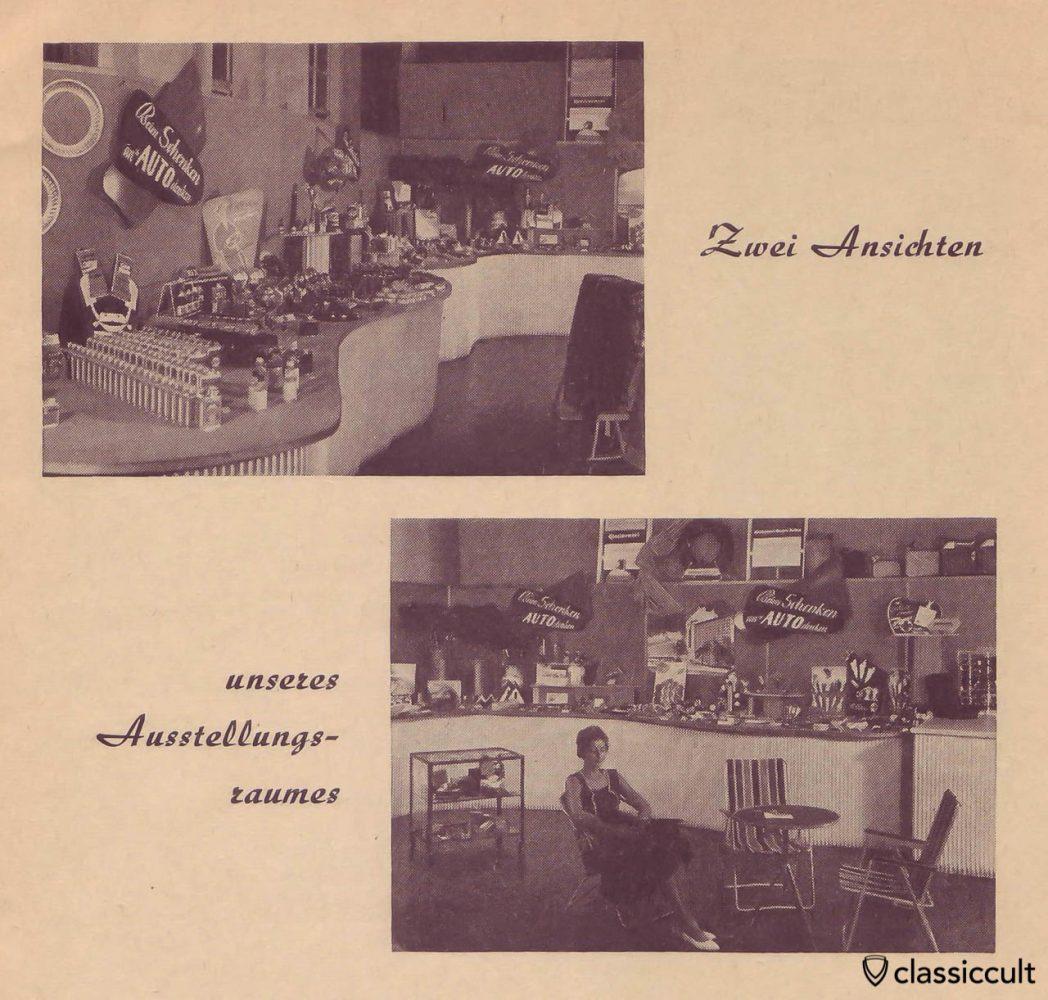 Vintage Car Accessories Showroom Germany 1960