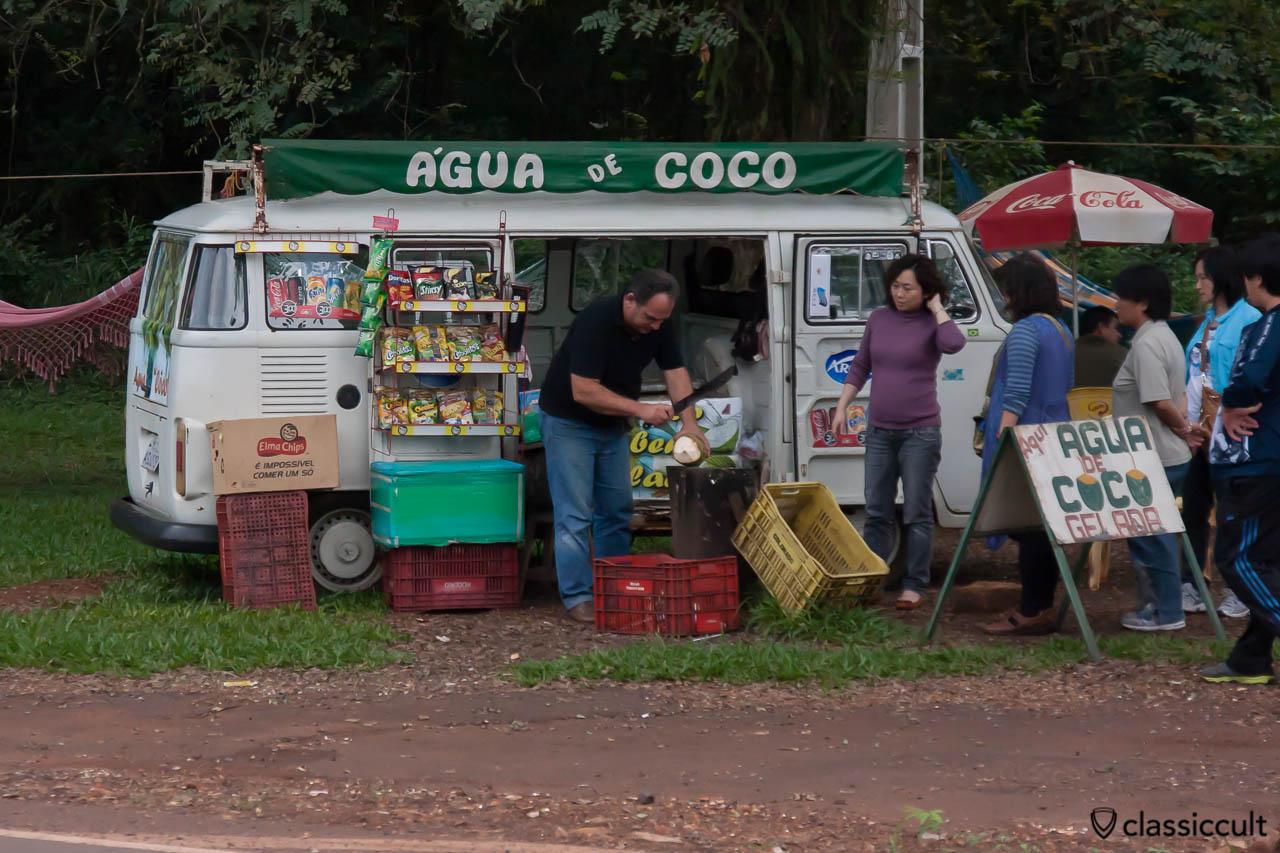 Brazilian VW Bay Bus around Iguazu Falls