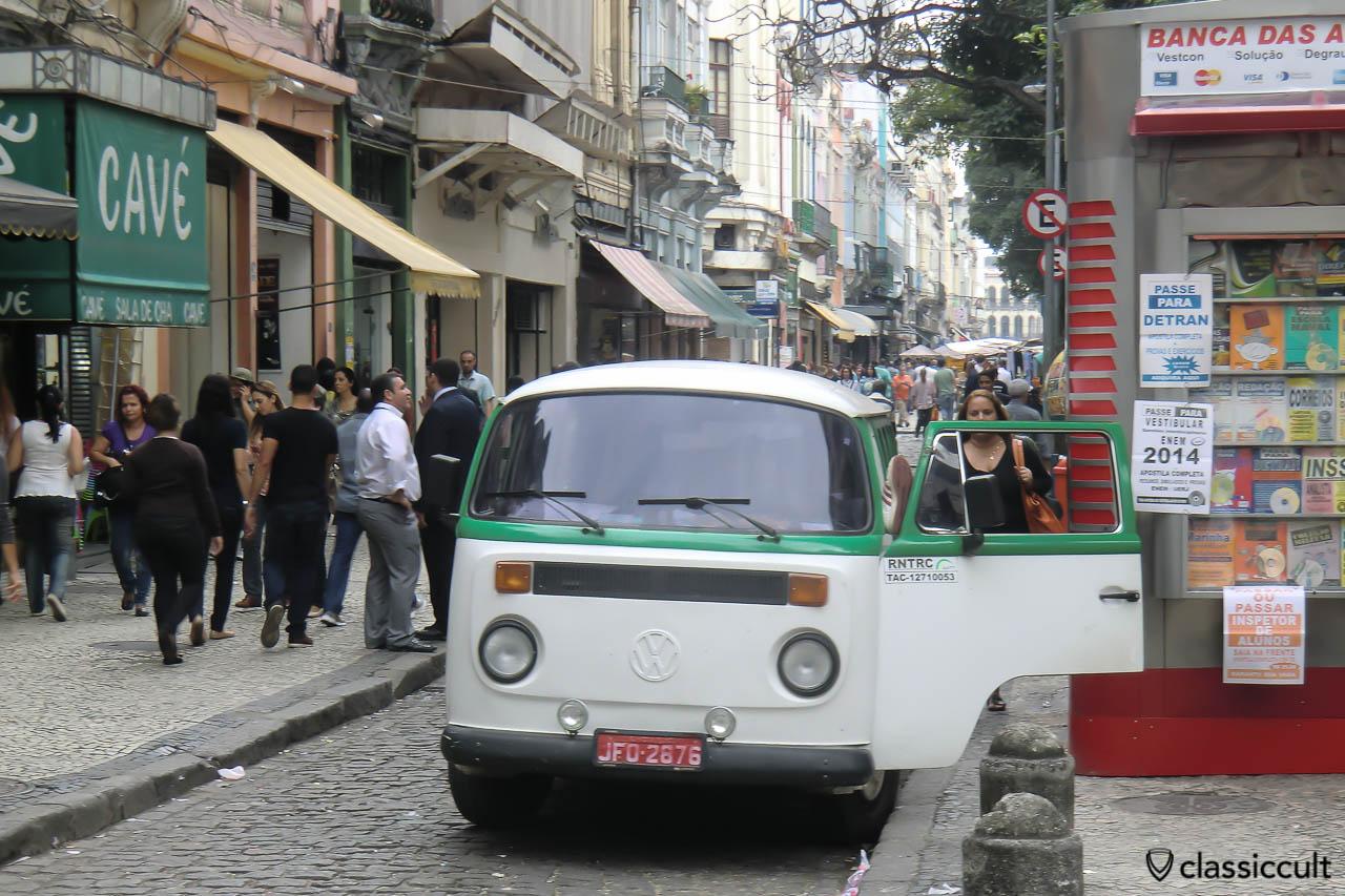 VW Bay Window Bus on Rio de Janeiro Streets
