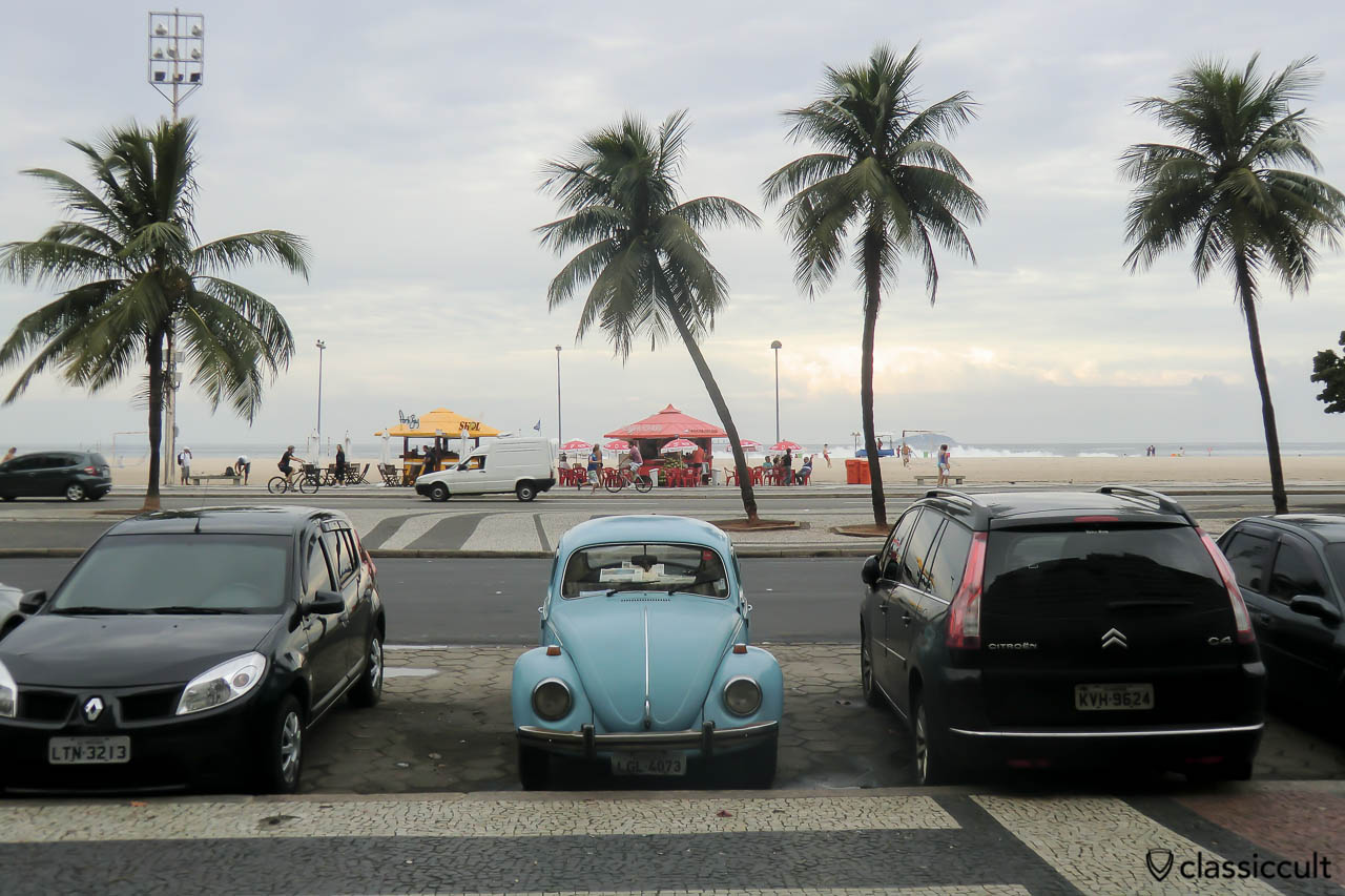 VW Fusca Beetle on Rio de Janeiro Streets Brazil