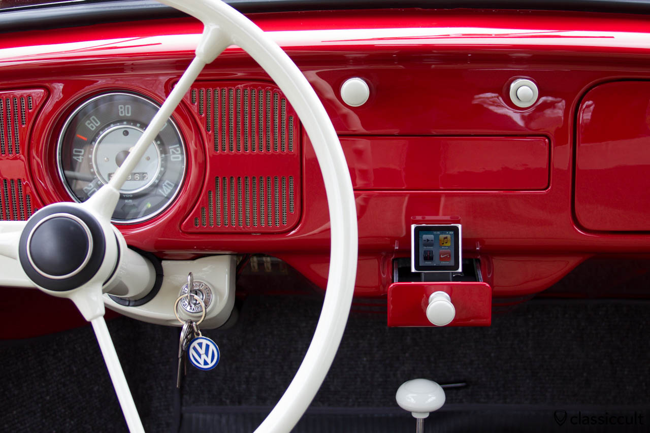 VW Beetle Sound System 6V iPod iPhone in Ashtray