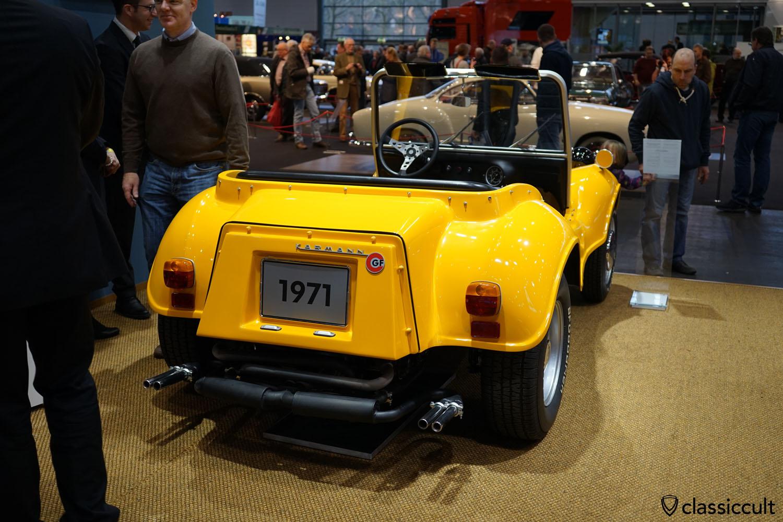 1971 Karmann GF Buggy, rear view