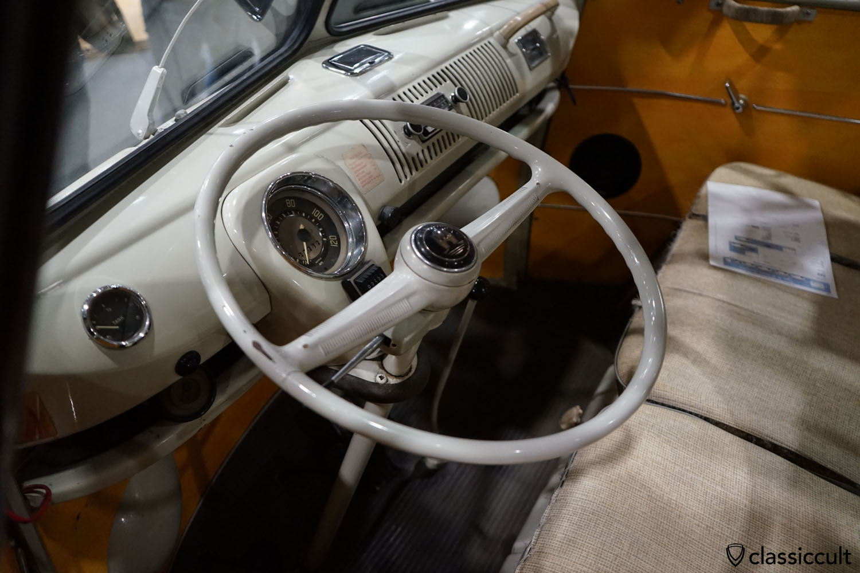 1966 21-window VW T1 Samba Bus dashboard view