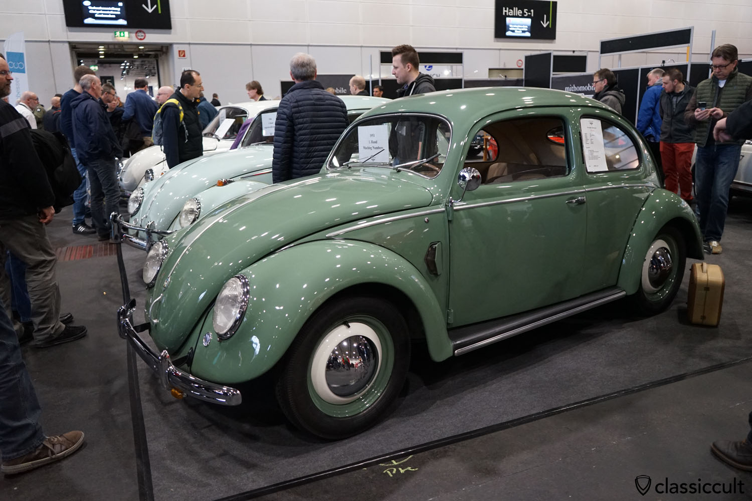 superb VW Brezel (Split) 1200 Export 1951, matching numbers, 59900 EUR