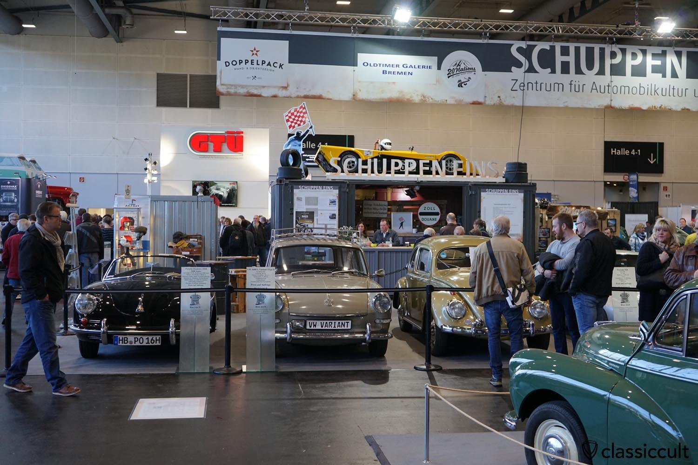 1960 Porsche Roadster 356B, 1967 VW 1600L, 1957 VW Oval