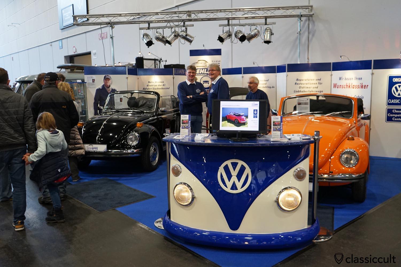 Gebrüder Behling, selling Italian actor Terence Hill black VW Beetle Convertible