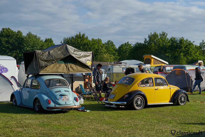 VW Beetle roof top tent