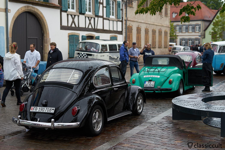 VW Bug with rear Window venetian blinds