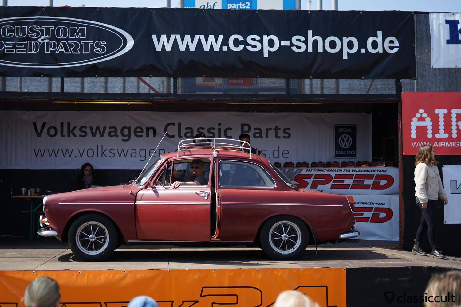 VW Type 3 Notchback on Lemmerz Sprintstar wheels