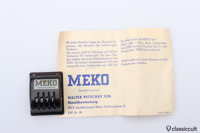 new old stock MEKO miles km counter