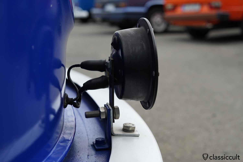 VW T2b THW Bus fanfare horn bumper mount