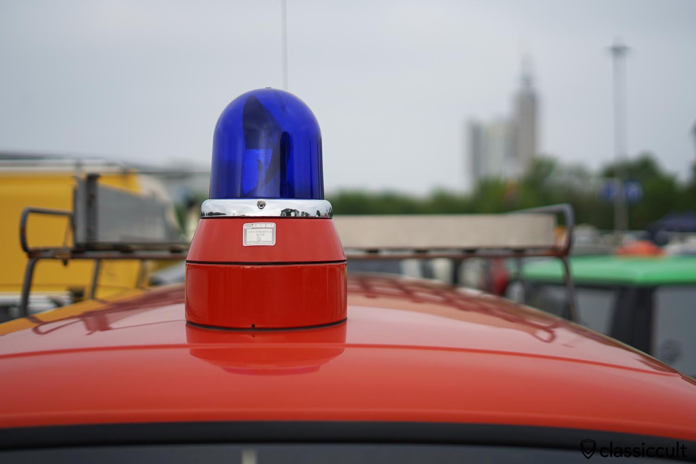 Hella KL-8 beacon on VW T2b Fire Bus roof