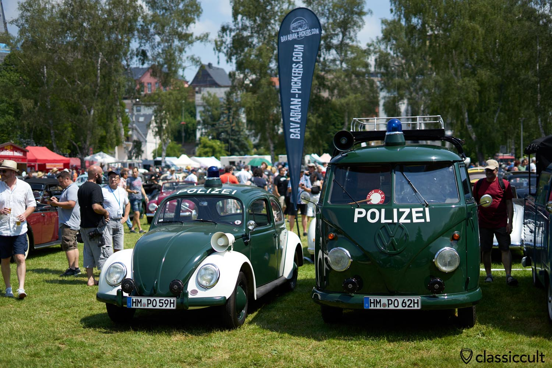 1959 Police VW Beetle, 1962 Police T1 Bus