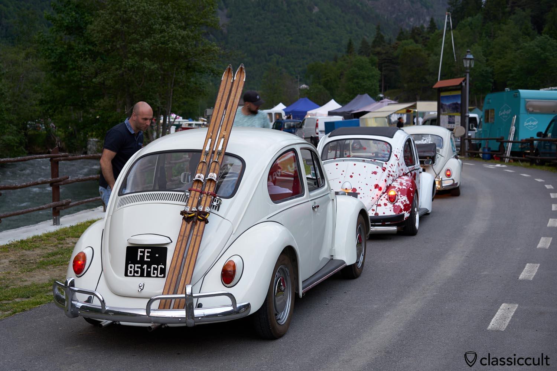 VW Bug with Ski Rack