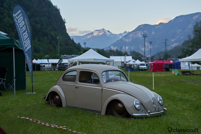 lowered VW Oval Bug