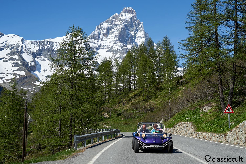 VW Beach Buggy with Matterhorn Mountain