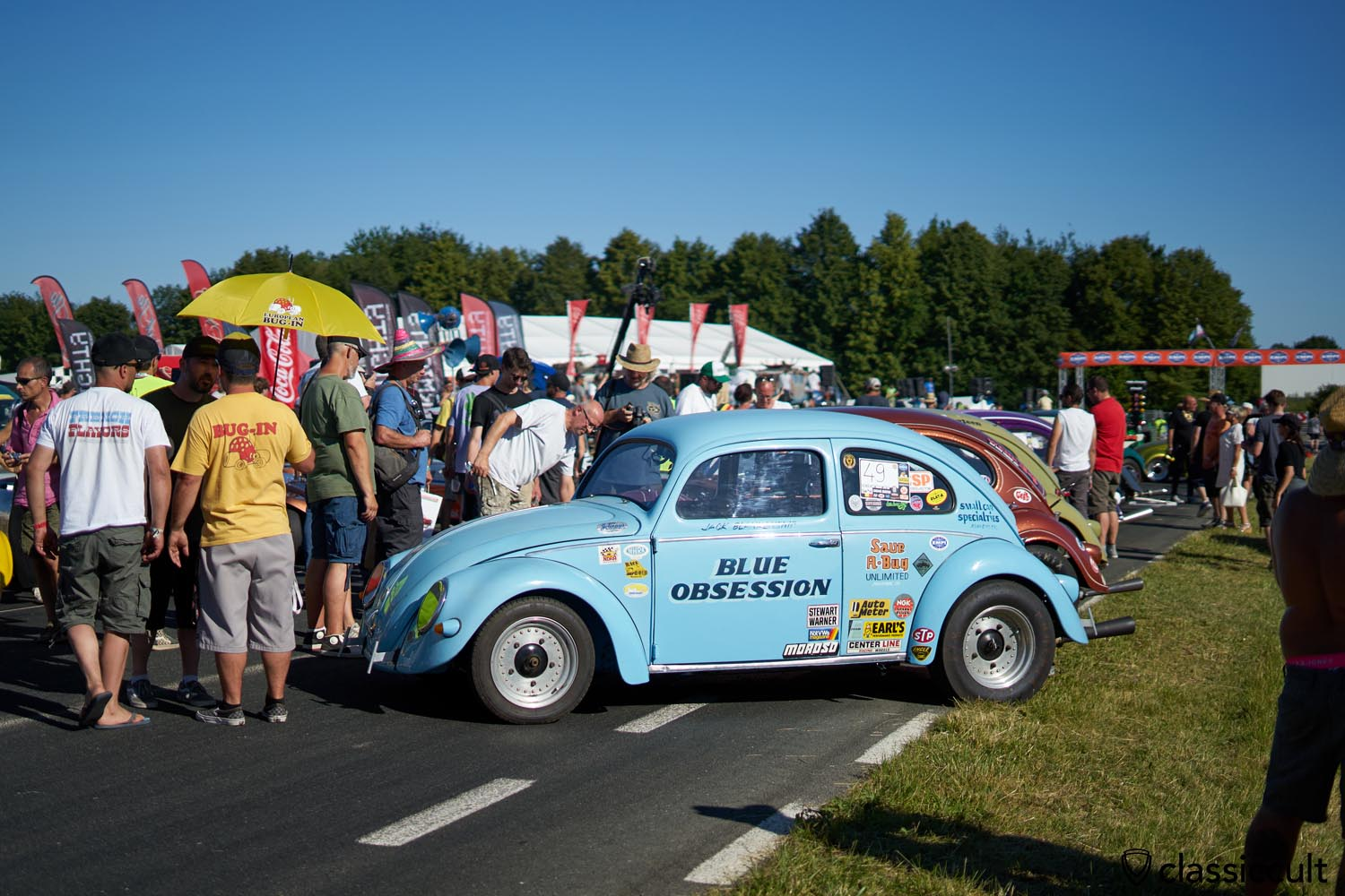 BLUE OBSESSION Race Oval Bug