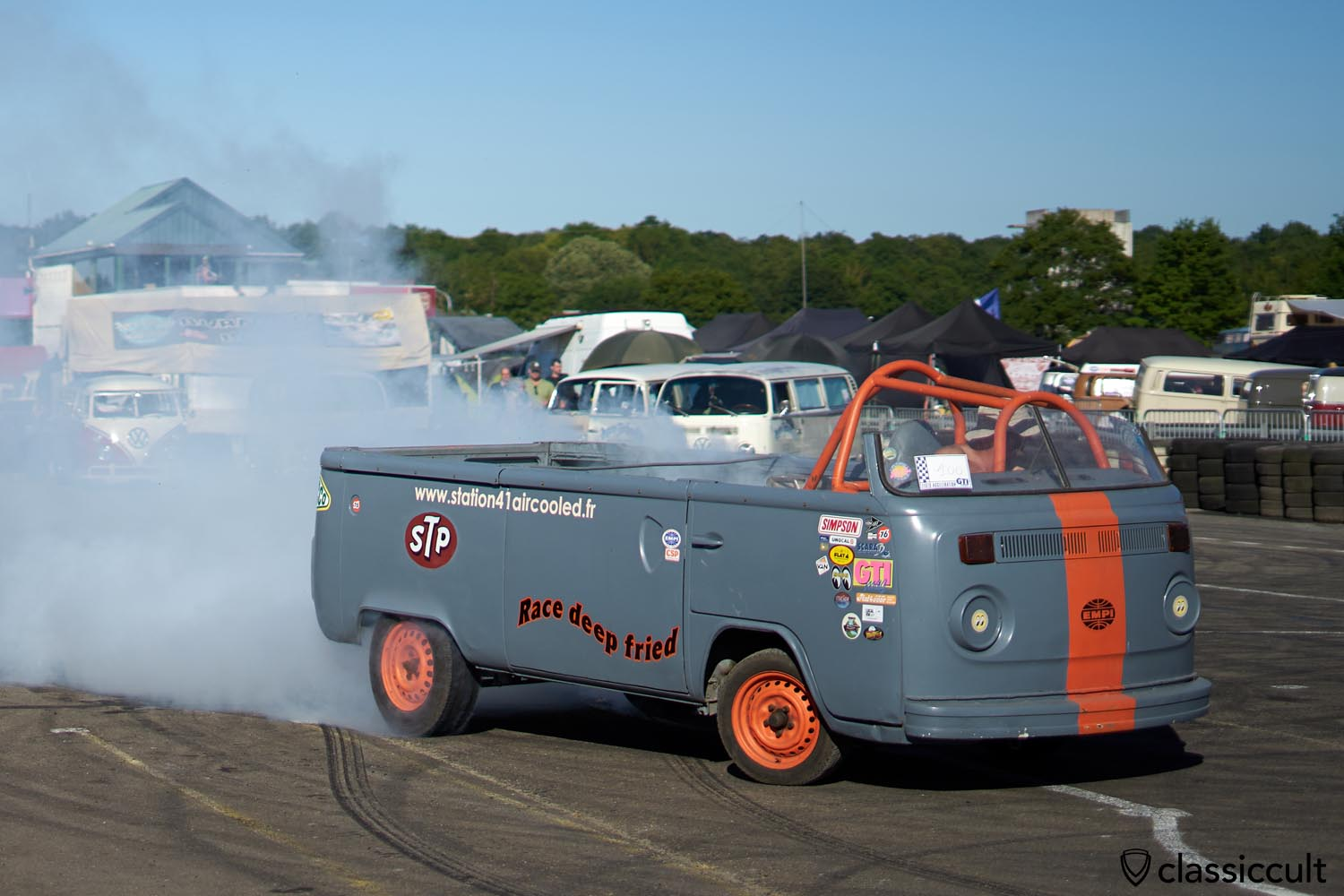 VW T2 burnout