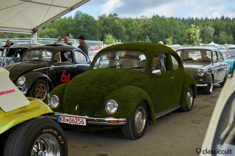 Green Grass VW Beetle
