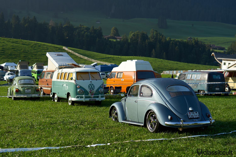 VW Oval Beetle on fuchs wheels rear view