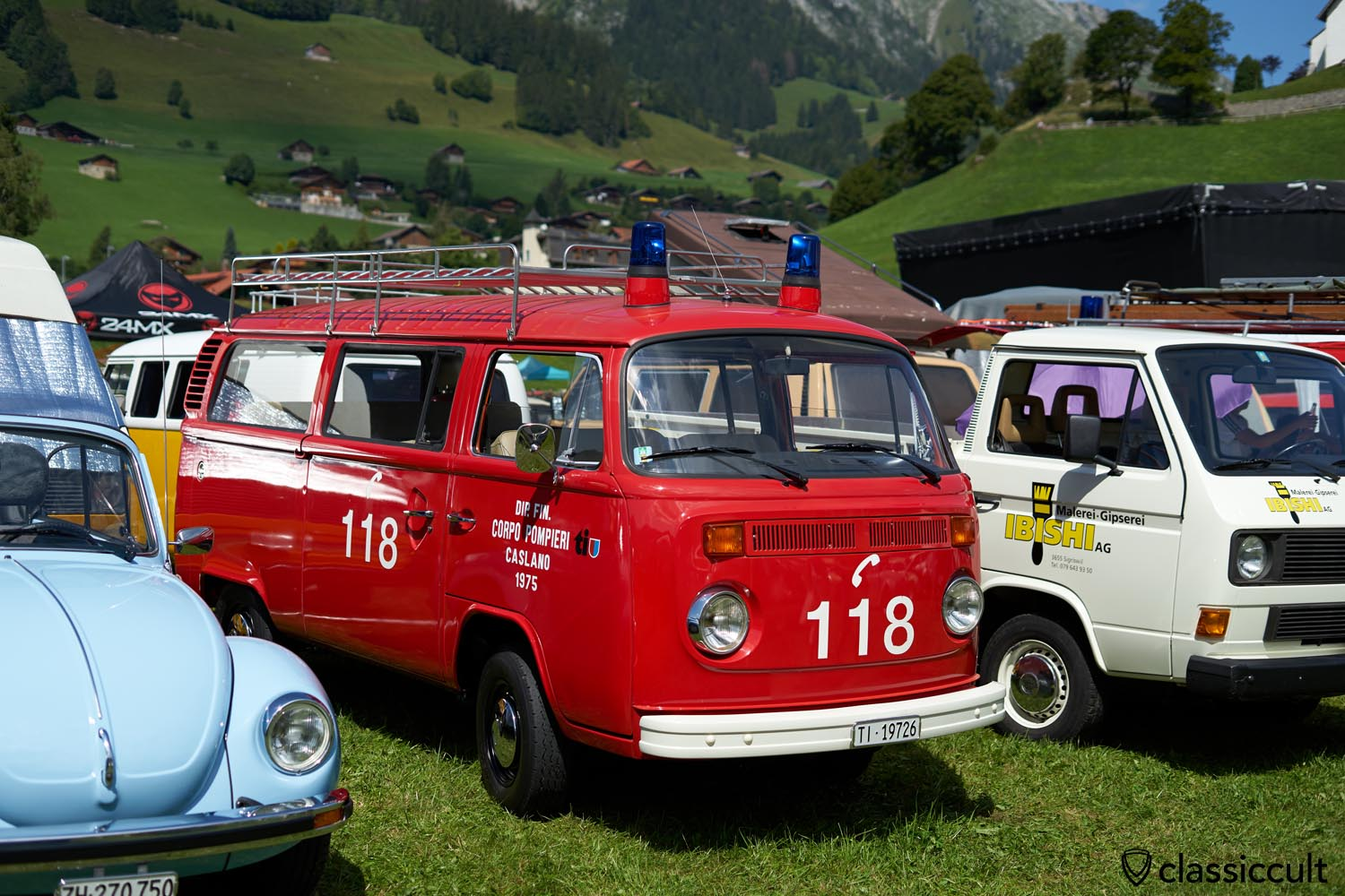 Swiss VW T2b Fire Bus