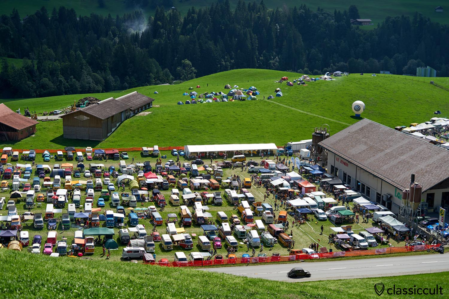 Chateau D`Oex VW Meeting view from above