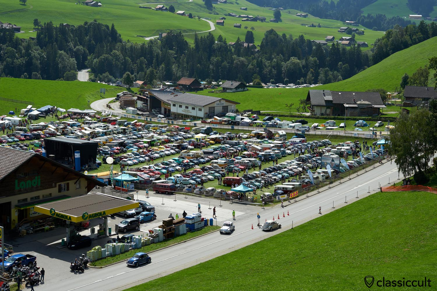 2019 Chateau D`Oex VW Meeting view from above