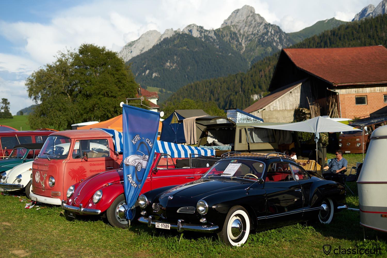 black 1960 Karmann Ghia