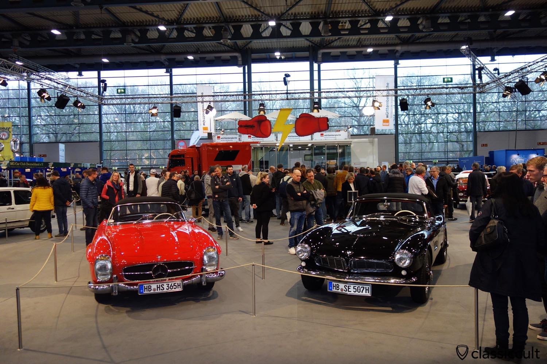 1958 BMW 507, 1963 Mercedes Benz 300 SL, Bremen Classic Motorshow 2020