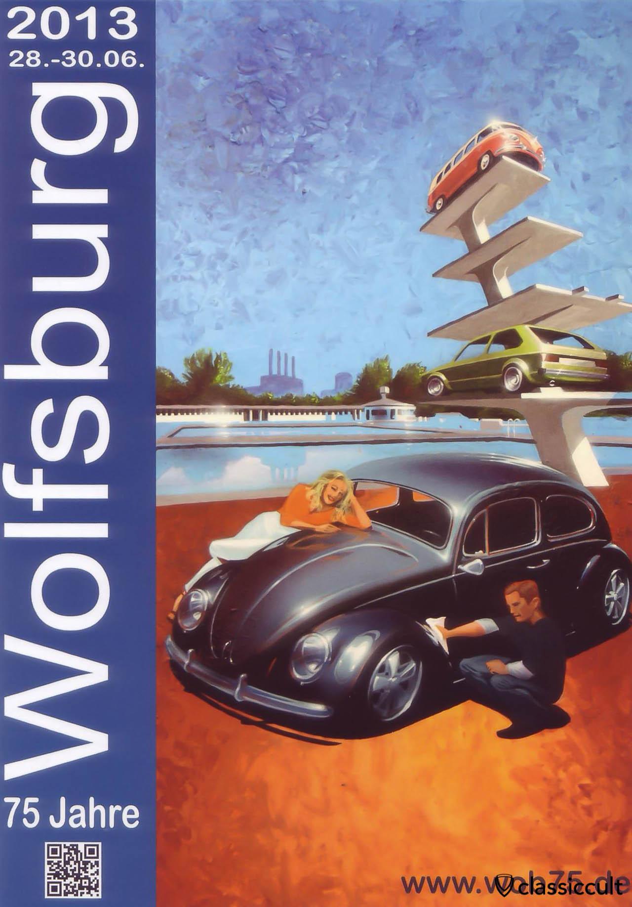 75 Jahre Wolfsburg 28.06.2013 - 30.06.2013 VW Treffen 2013 Flyer