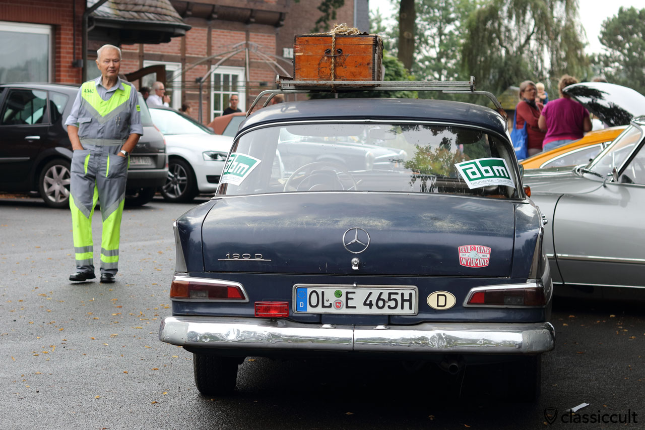 1965 Mercedes 190D Heckflosse, #22 ADAC Oldtimer and Classic Rallye Verden 2016