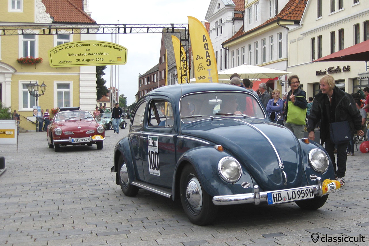 My 1959 VW Beetle in Verden City, 22. Int. ADAC Oldtimer Classic Rallye, 20th August 2016