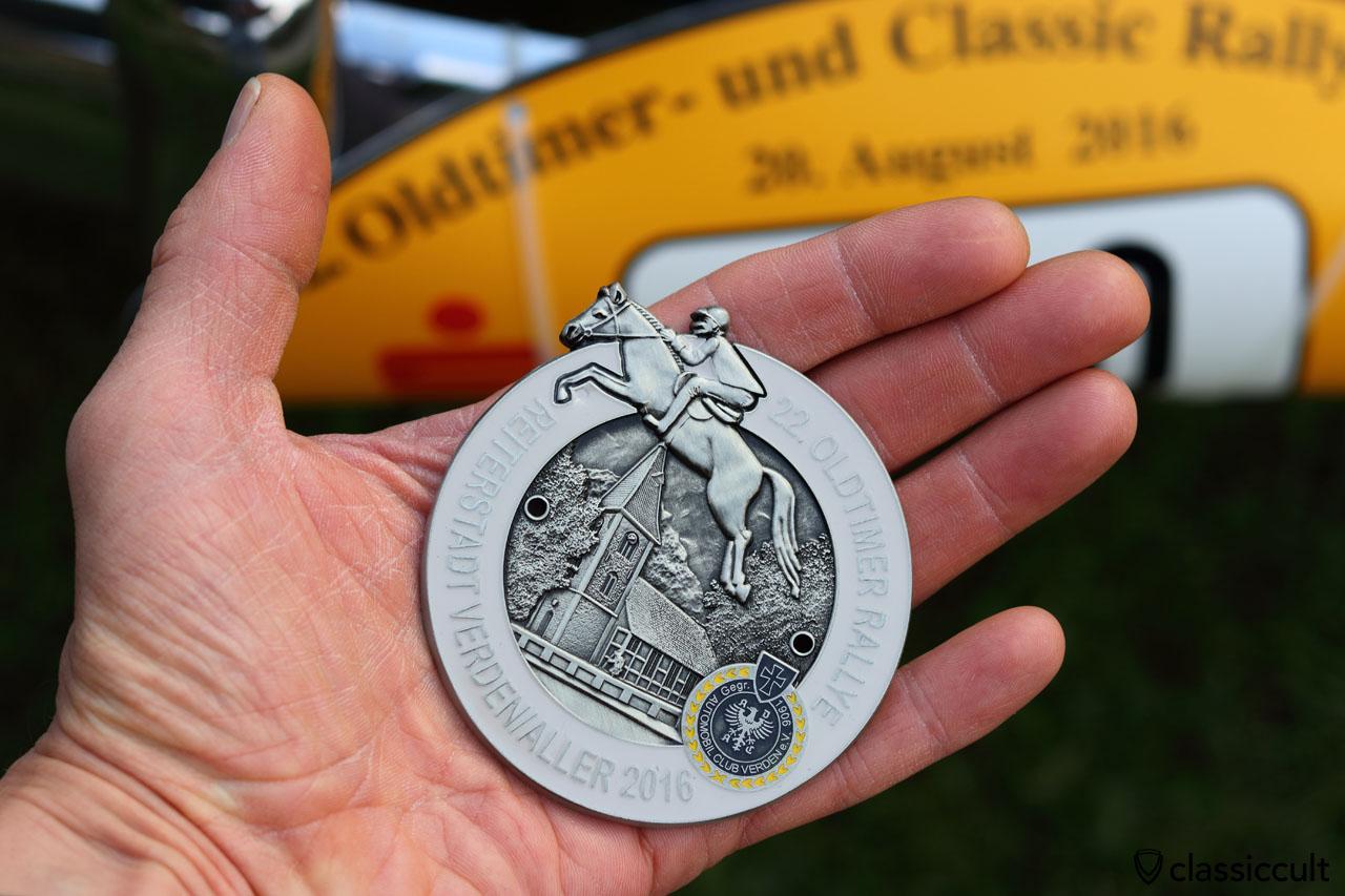 22. ADAC Oldtimer Rallye Reiterstadt Verden Aller 2016 Badge