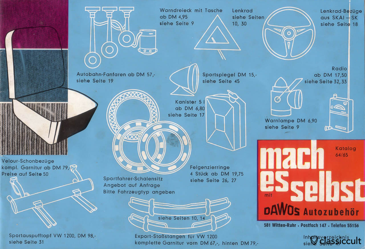 mach es selbst Autozubehör Katalog 1964 - 1965, Cover