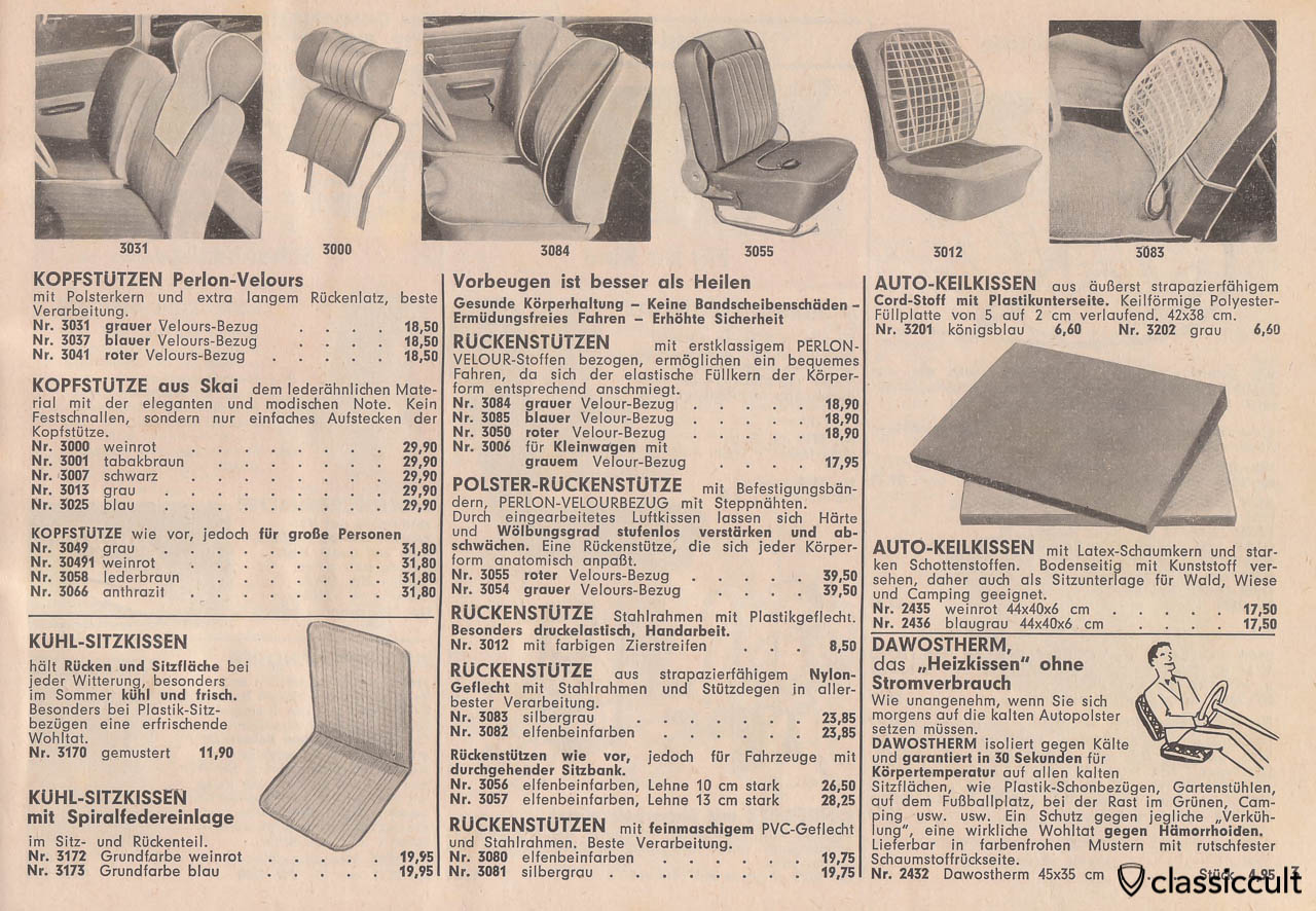 seat accessories like headrest or heating pad, Page 3