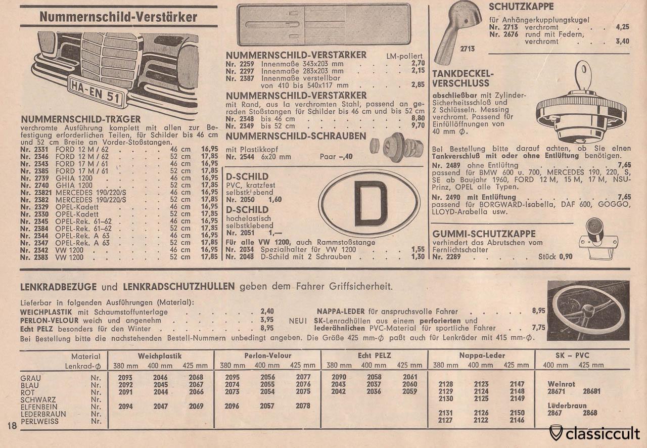 German license plate frame, plastic D-badge, Page 18
