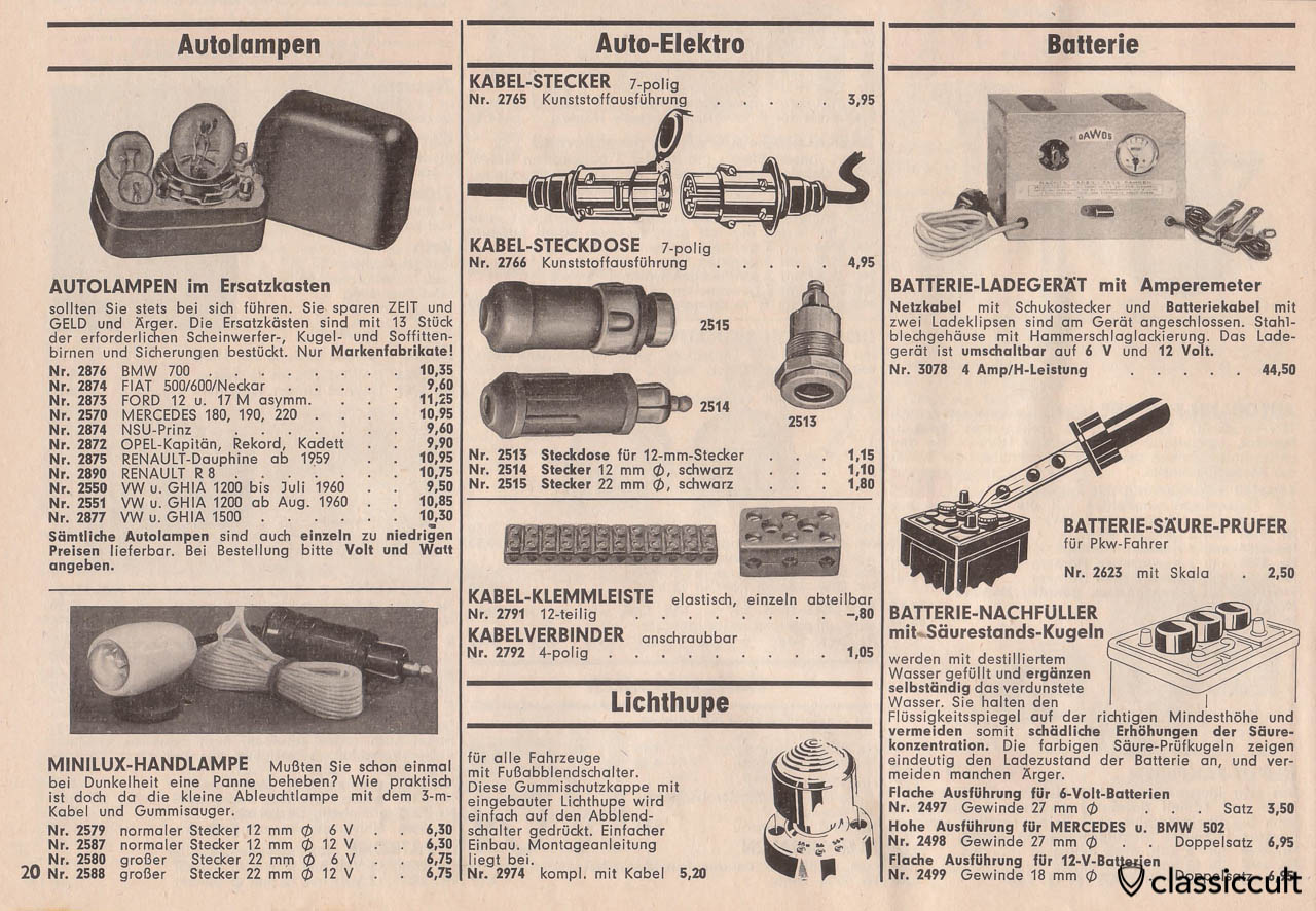 MINILUX hand lamp, 12 mm and 22 mm power plug, Page 20
